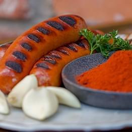 Hot Beef Spice Sausages California - Show Boat Brand